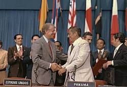 Image result for panama canal treaties signed